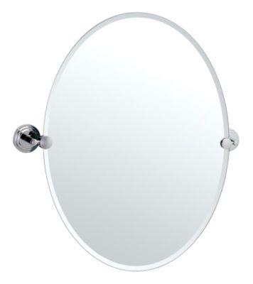 Marina Oval Beveled Mirror & Brackets - Chrome