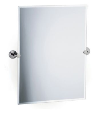 Marina Rectangular Beveled Mirror & Brackets - Chrome