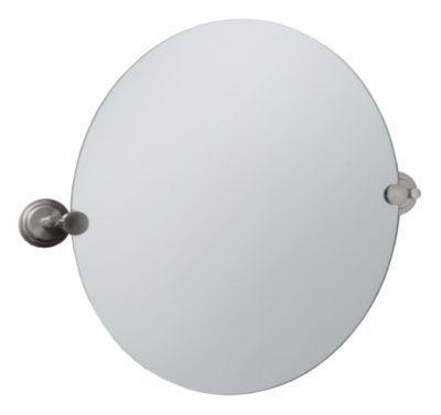 Marina Round Mirror - Satin Nickel