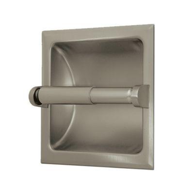 Bathroom Essentials Recessed Tissue Holder