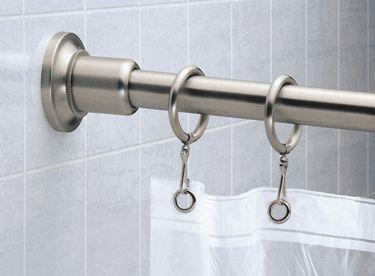 Marina Shower Rod - Satin Nickel