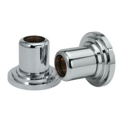 Marina Pair of Shower Curtain Rod Ends - Chrome