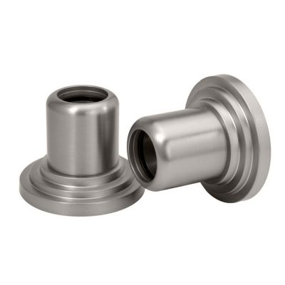 Marina Pair of Shower Curtain Rod Ends - Satin Nickel