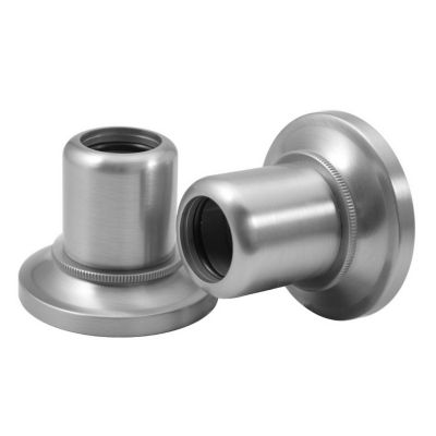 Tiara Shower Rod Ends - Pair - Satin Nickel