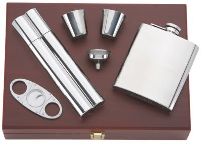 That's Entertainment™ Flask Cigar Set