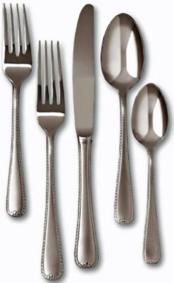 Ribbon Edge Frost™ 5 Piece Place Setting