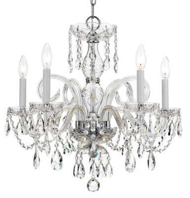 Traditional Crystal 5 Light Crystal Chandelier I