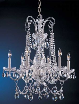 Traditional Crystal 6 Light Crystal Chandelier I