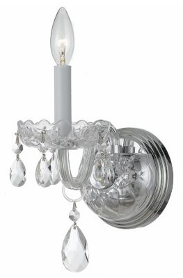 Traditional Crystal 1 Light Crystal Sconce I