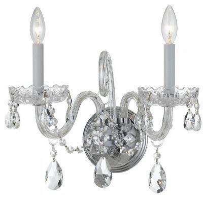 Traditional Crystal 2 Light Crystal Sconce I