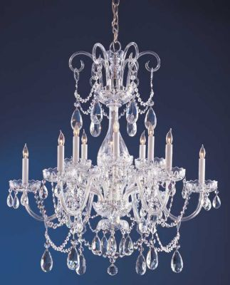 Traditional Crystal 12 Light Crystal Chandelier II