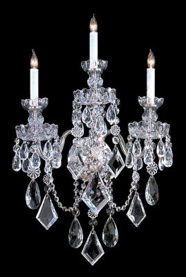 Traditional Crystal 3 Light Crystal Sconce II
