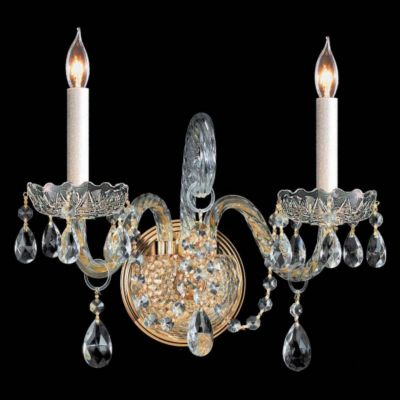 Traditional Crystal 2 Light Crystal Sconce I