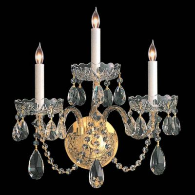 Traditional Crystal 3 Light Crystal Sconce I