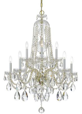 Traditional Crystal 10 Light Crystal Chandelier I