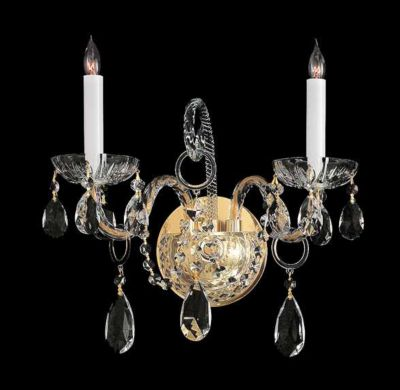 Traditional Crystal 2 Light Crystal Sconce II