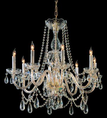Traditional Crystal 8 Light Crystal Chandelier II