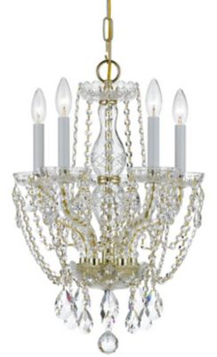 Traditional Crystal 5 Light Crystal Mini Chandelier I