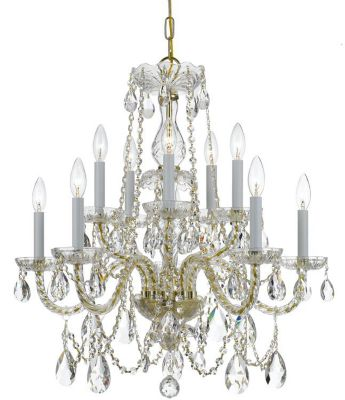 Traditional Crystal 10 Light Crystal Chandelier II