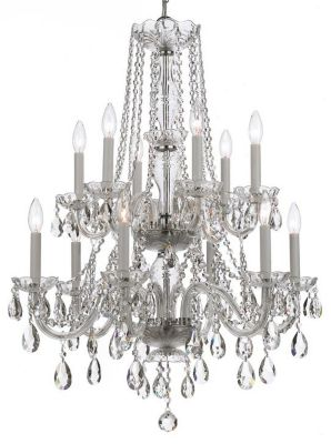 Traditional Crystal 12 Light Crystal Chandelier III