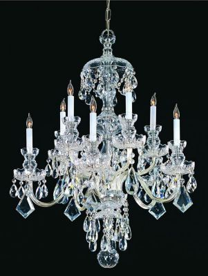 Traditional Crystal 10 Light Crystal Chandelier III