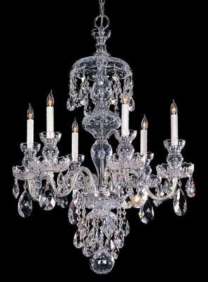 Traditional Crystal 6-Light Crystal Chrome Chandelier V