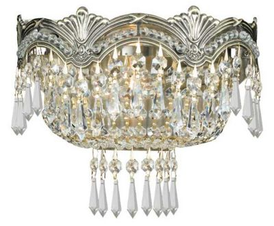 Majestic 2 Light Crystal Sconce I