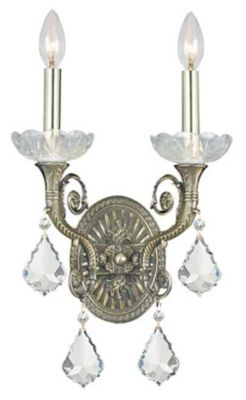 Majestic 2 Light Crystal Sconce II