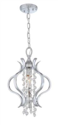 Flow 1 Light Crystal Chrome Mini Chandelier II