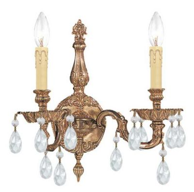 2 Light Crystal Cast Wall Mount