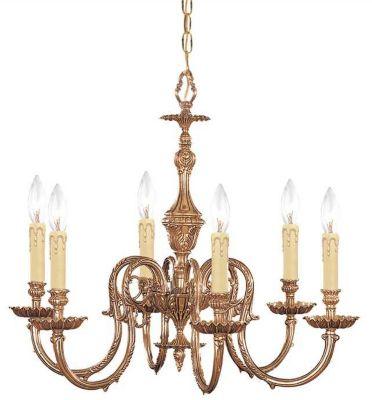 Novella 6-Light Olde Brass Chandelier