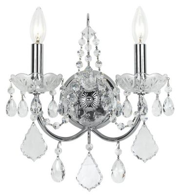 Imperial 2 Light Crystal Sconce