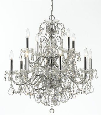 Imperial 12 Light Crystal Chandelier