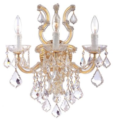 Maria Theresa 3 Light Crystal Sconce III