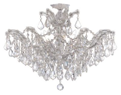 Maria Theresa 6-Light Clear Crystal Chrome Chandelier II