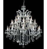 Maria Theresa 26-Light Clear Crystal Chrome Chandelier