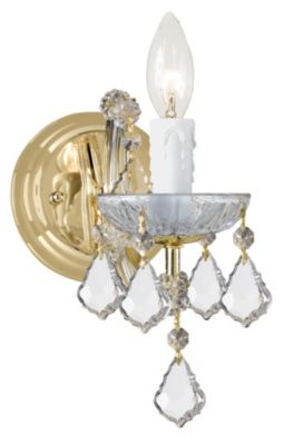 Maria Theresa 1 Light Clear Crystal Gold Sconce I