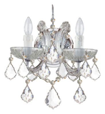 Maria Theresa 2 Light Crystal Sconce II