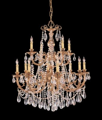 Etta 12 Light Hand Cut Crystal Chandelier I