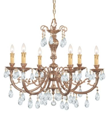 Etta 6 Light Crystal Chandelier II