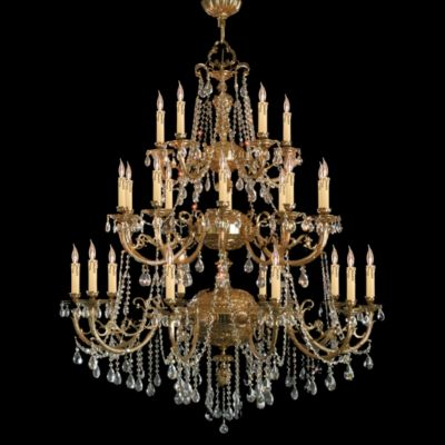 Etta 25 Light Hand Cut Crystal Chandelier