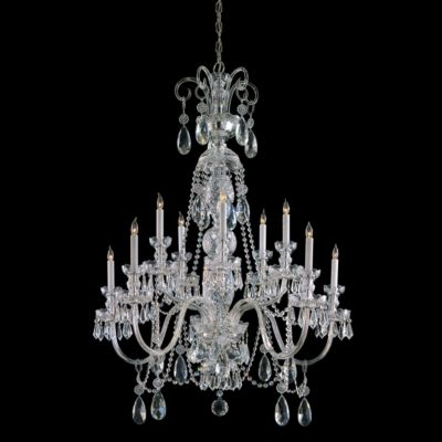 Traditional Crystal 10 Light Crystal Chandelier IV