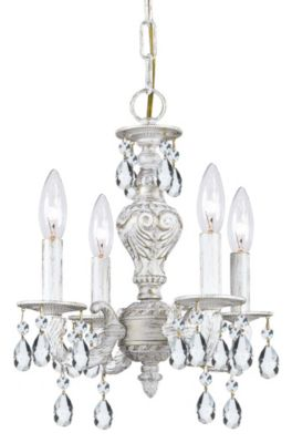 Paris Market 4 Light Crystal Mini Chandelier