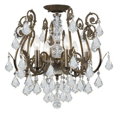 Regis 6 Light Hand Cut Crystal Semi