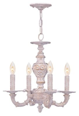 Paris Market 4-Light Antique White Mini Chandelier