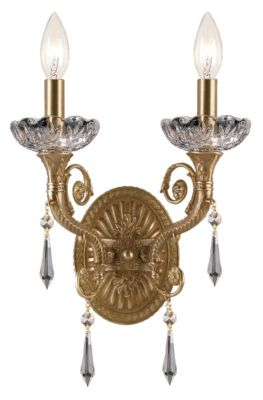 Regal 2 Light Crystal Sconce