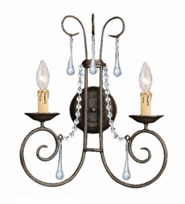 Soho 2 Light Crystal Sconce