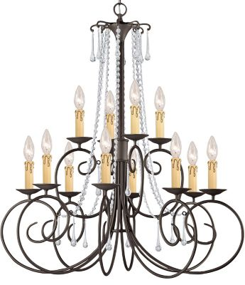 Soho 12 Light Clear Crystal Chandelier