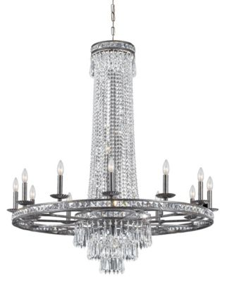 Mercer 16-Light Crystal Bronze Chandelier