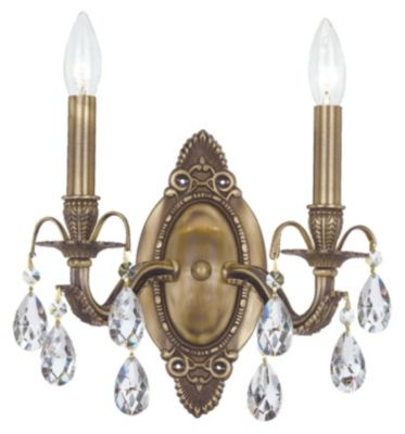 Dawson 2 Light Crystal Sconce